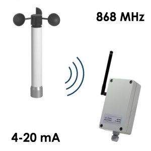 Wiatromierz bezprzewodowy Navis W110-4-20/WS anemometr mechaniczny czujnik prędkości wiatru 4-20 mA