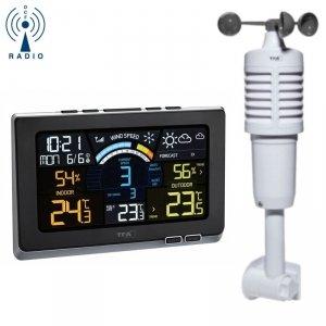 TFA 35.1140 SPRING BREEZE bezprzewodowa stacja pogody czujnik wiatru kolorowy wyświetlacz
