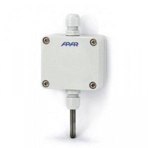 APAR AR102 czujnik temperatury rezystancyjny typu Pt100 puszkowy naścienny zewnętrzny