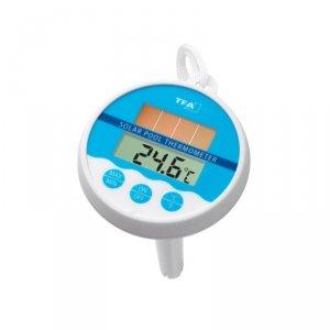 TFA 30.1041 termometr basenowy elektroniczny pływający do wody z panelem solarnym