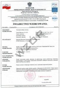 Świadectwo wzorcowania stacji meteorologicznej SW-8-PCA z akredytacją PCA