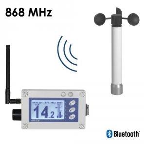 Wiatromierz sygnalizacyjny bezprzewodowy Navis W410/BAT anemometr alarmowy autonomiczny alarm dźwiękowy i wizualny