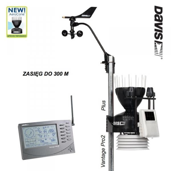 Davis 6162 Vantage Pro2 Plus stacja meteorologiczna bezprzewodowa półprofesjonalna czujniki promieniowania