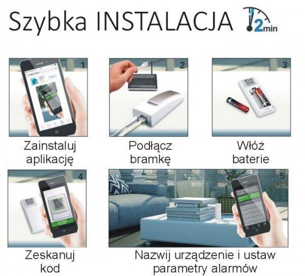 System zdalnego monitoringu Mobile Alerts MA10650 czujnik opadów deszczomierz smartfon