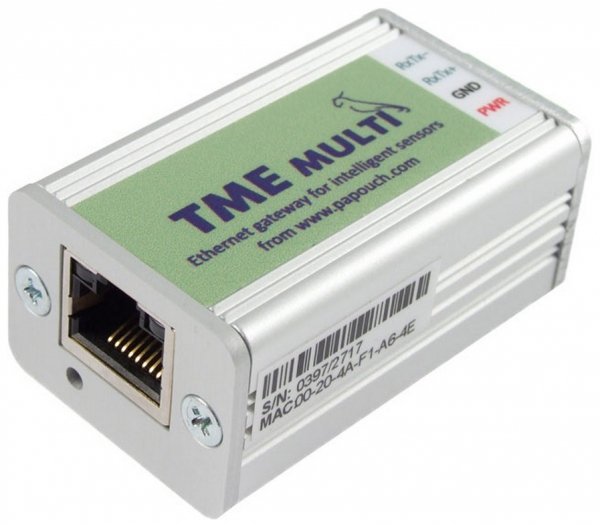 Termohigrometr internetowy Papouch TME multi RS485 do Modbus TCP, Ethernet, LAN, IP