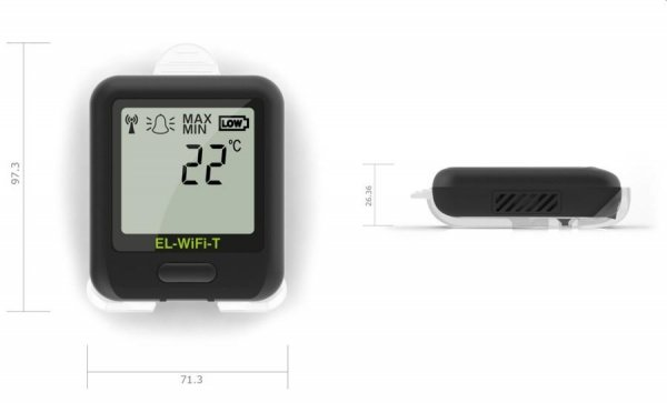 Rejestrator temperatury internetowy Corintech EL-WiFi-T+ data logger WiFi, IP, Ethernet