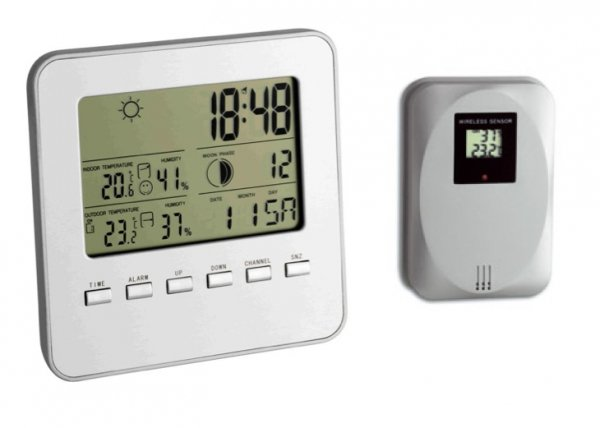 TFA 35.1098 QUADRO stacja pogody bezprzewodowa z czujnikiem zewnętrznym