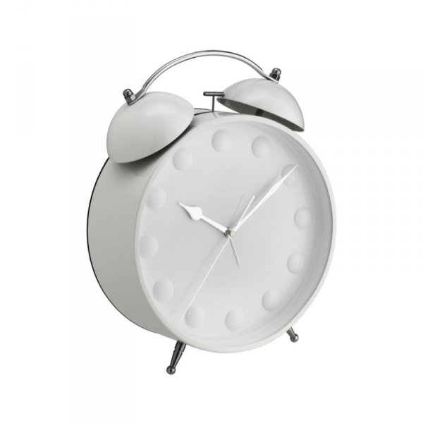 TFA 60.1022 BIG BELL XXL budzik biurkowy zegar wskazówkowy klasyczny płynąca wskazówka