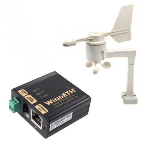 Wiatromierz internetowy anemometr Papouch WindETH Modbus TCP, LAN, IP