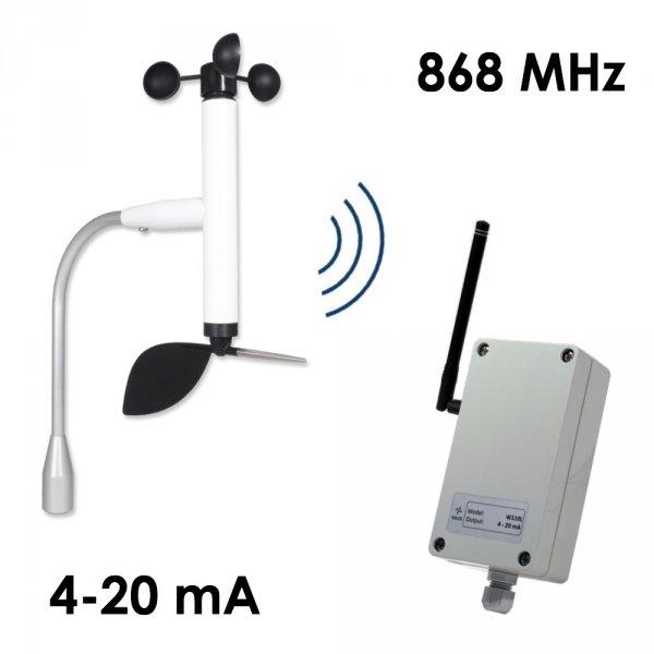 Wiatromierz bezprzewodowy Navis W110 4-20/WSD czujnik prędkości i kierunku wiatru 4-20 mA