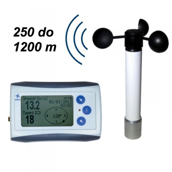 Rejestrator prędkości wiatru Navis WL11/WS anemometr bezprzewodowy z termometrem