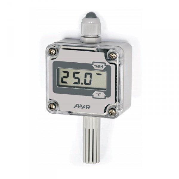 APAR AR252-LCD termohigrometr przemysłowy czujnik temperatury i wilgotności puszkowy naścienny LCD wyjście analogowe lub cyfrowe RS485 Modbus