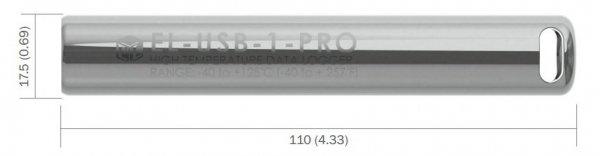 Rejestrator temperatury Corintech USB-T-PRO data logger termometr USB przemysłowy