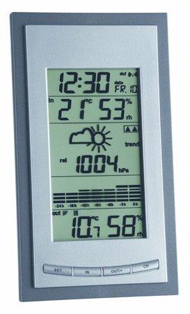 Stacja pogody bezprzewodowa TFA 35.1078 DIVA PLUS z czujnikiem zewnętrznym błyskawiczna transmisja