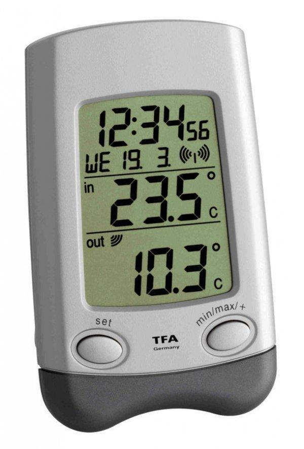 Termometr bezprzewodowy TFA 30.3016.54 WAVE z czujnikiem zewnętrznym błyskawiczna transmisja