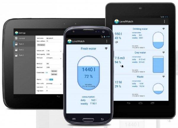Czujnik poziomu cieczy Navis LW BLE-C bezprzewodowy Bluetooth do smartfona