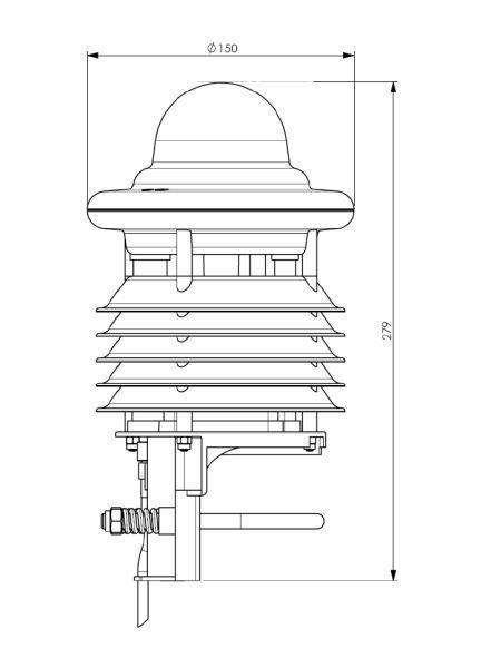 Lufft WS400 kompaktowa stacja meteorologiczna stacja pogodowa przemysłowa Modbus mini radar meteo