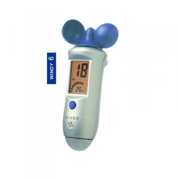 Wiatromierz ręczny elektroniczny Navis Windy 6 z termometrem