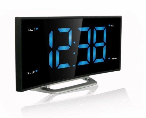 Budzik zegar biurkowy LED TechnoLine WT 460 z odbiornikiem radiowym