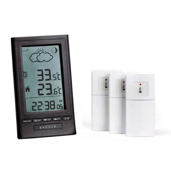 Garni ND1250 stacja pogody bezprzewodowa  z 3 czujnikami zewnętrznymi