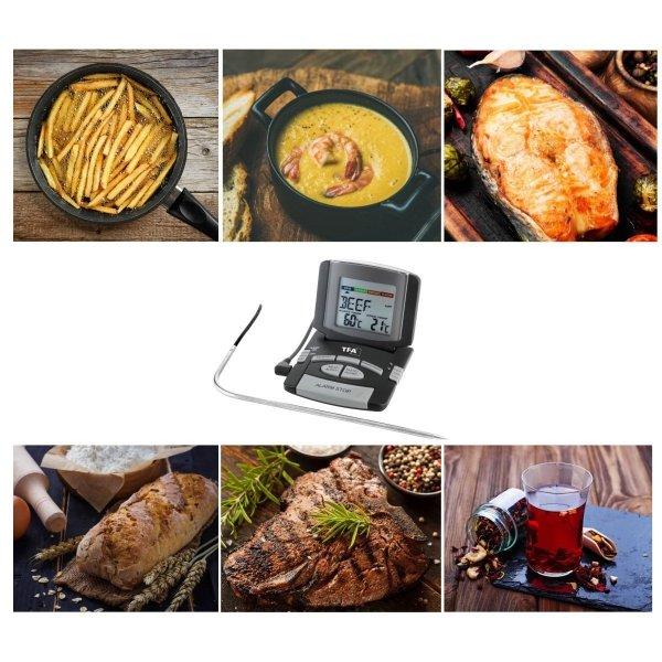 TFA 14.1502 termometr kuchenny elektroniczny z sondą szpilkową do piekarnika