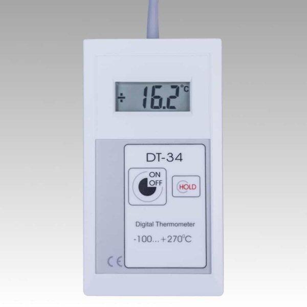 Termometr przemysłowy DT-34 elektroniczny dokładny Pt1000 z sondą szpilkową do żywności