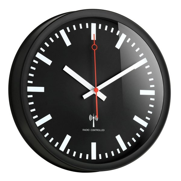 TFA 60.3513 zegar ścienny wskazówkowy sterowany radiowo płynąca wskazówka 25 cm