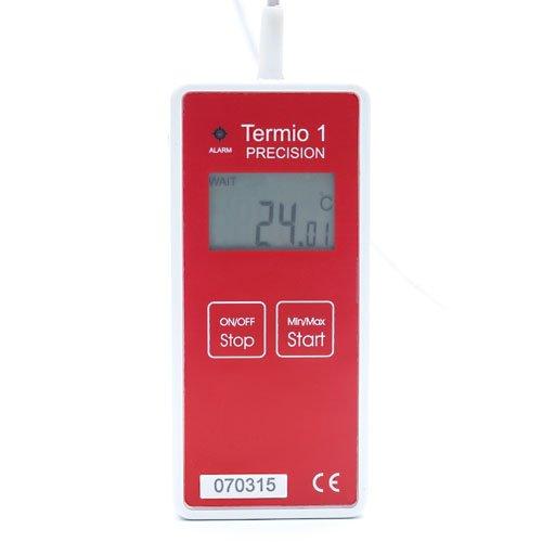Rejestrator temperatury laboratoryjny TERMIO-1 precyzyjny data logger termometr Pt1000 sonda zanurzeniowa