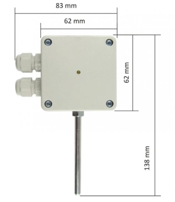 Papouch TQS4_O termometr przemysłowy RS485 (Modbus RTU) czujnik temperatury zewnętrzny