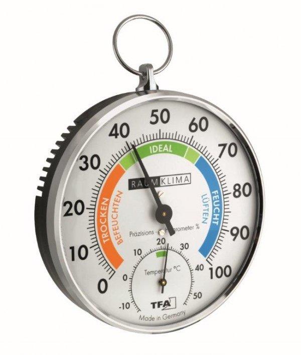 TFA 45.2027 termohigrometr tradycyjny czujnik temperatury i wilgotności mechaniczny włókna syntetyczne 102 mm