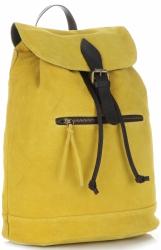 Plecak Skórzany VITTORIA GOTTI Made in Italy 80022 Żółty