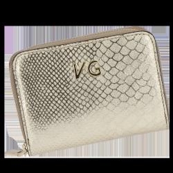 Skórzany Portfel Damski VITTORIA GOTTI Made in Italy VG003MG Złoty