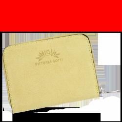 Portfel Skórzany VITTORIA GOTTI Made in Italy V-033S Żółty
