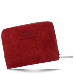 Portfel Skórzany VITTORIA GOTTI Made in Italy V-033S Bordowy