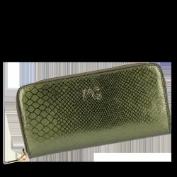 Skórzany Portfel Damski VITTORIA GOTTI Made in Italy VG003DG Zielony