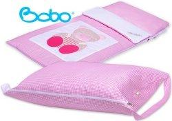 Pokrowiec na śpiworek różowa kratka