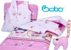 Śpiworek dla dziecka od 2 do 5 lat różowy w sowy
