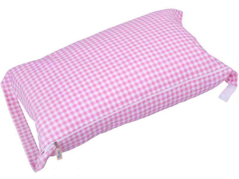 Pokrowiec na śpiworek różowa krata