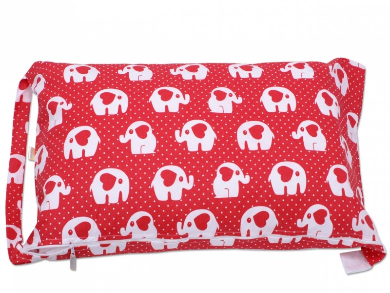 Pokrowiec na śpiworek czerwony w słonie