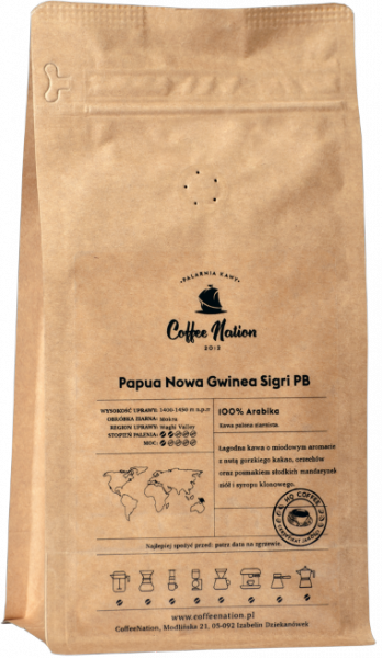 Papua Nowa Gwinea Sigri PB 500g - 100% Arabika