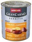 Animonda Gran Carno Sensitiv Indyk + ziemniaki 800g
