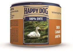 12x Happy Dog Ente Puszka 100% Kaczka 200g