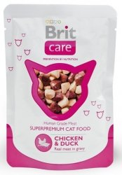 Brit Care Cat Pouch Chicken & Duck - Kurczak i Kaczka saszetka 80g