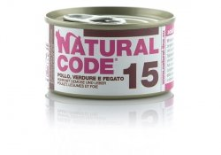 Natural Code Cat 15 Chicken, vegetables and liver 85g