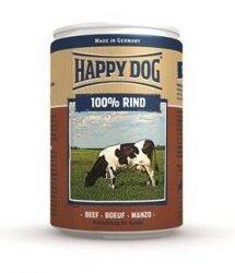 12x Happy Dog Rind Puszka 100% Wołowina 400g