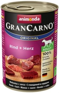 Animonda GranCarno Adult Rind Herz Wołowina + Serca 400g