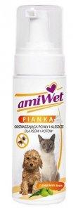 Amiwet Pianka odstraszająca pchły i kleszcze dla psów i kotów 150ml