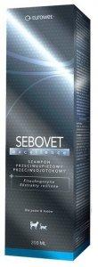 Eurowet Sebovet Excellence - szampon przeciwłupieżowy i przeciwłojotokowy dla kota i psa 200ml