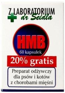 Dr Seidel HMB preparat odżywczy dla psów i kotów 60 kaps. + 20% gratis