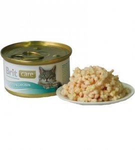 Brit Care Cat Kitten Pierś Kurczaka dla kociąt puszka 80g